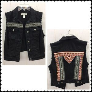 H&M COACHELLA Black Vest Sz 8 Small